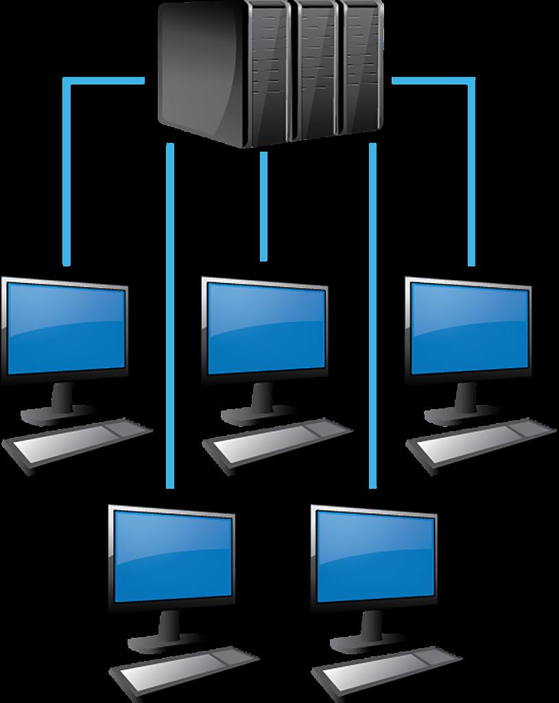 מחשבים מחוברים נכון לשרת